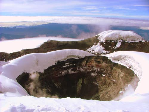 Cotopaxi crater.