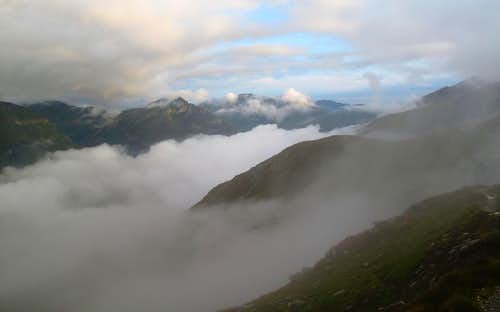 Morning cloud over the Gastein-Rauris mountains