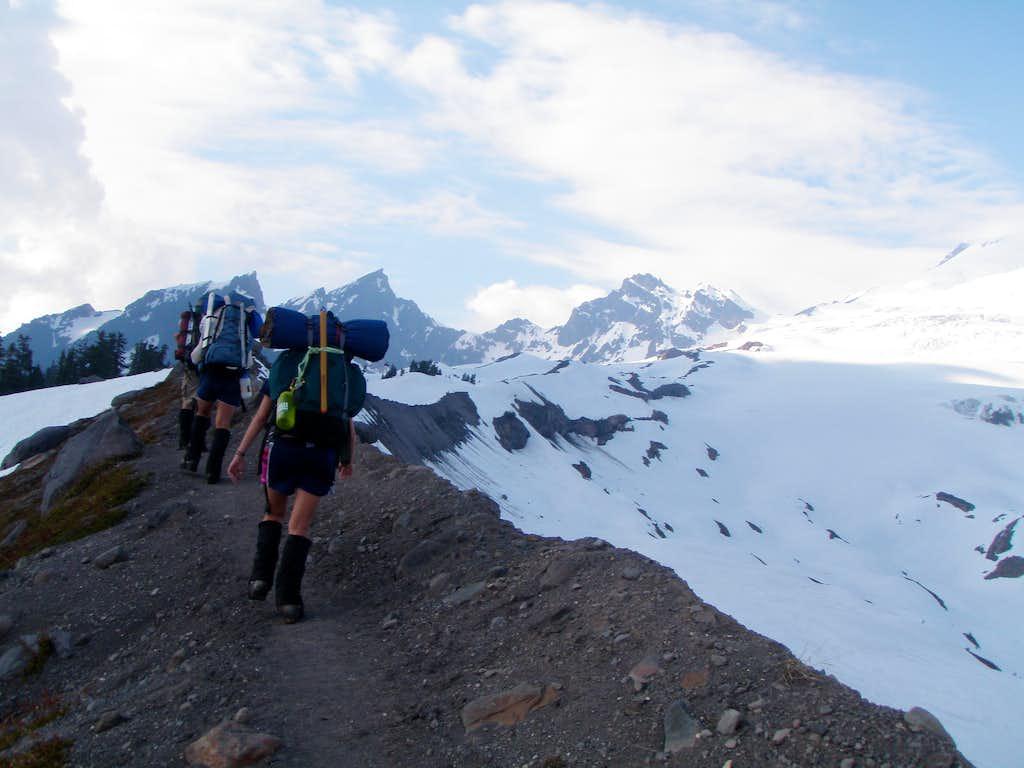 Climbers on R.R. Grade