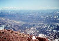 View from the summit in...