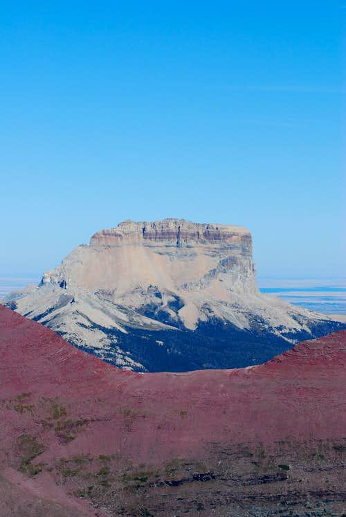 Chief Mountain from Crowfeet Mountain