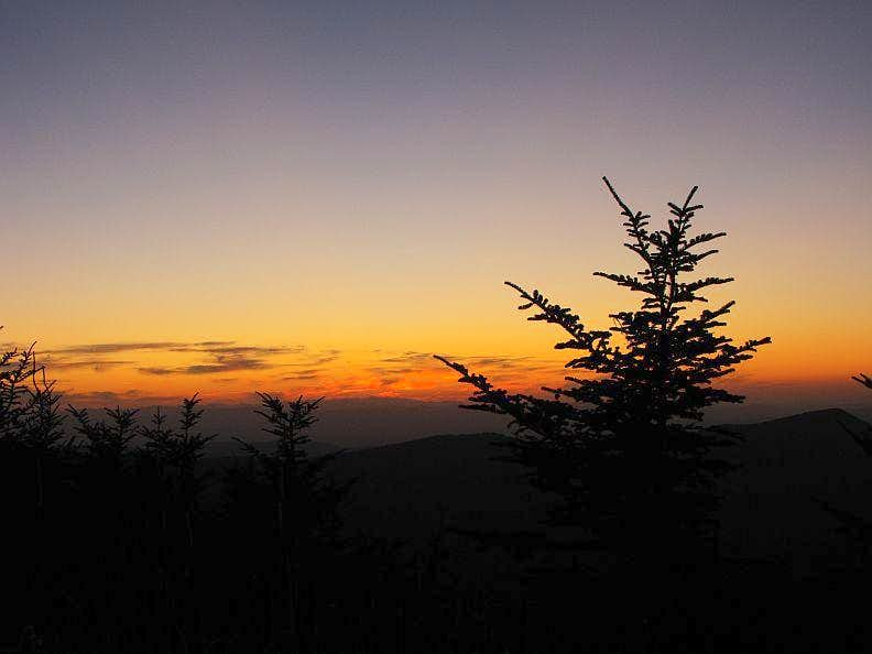 Sunset From Mt. Mitchell