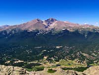 Longs Peak from Twin Sisters Summit