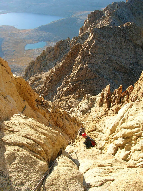 Descending the Northwest Face