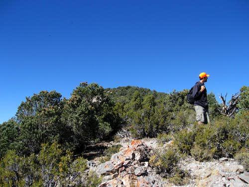 Nearing the ridgeline