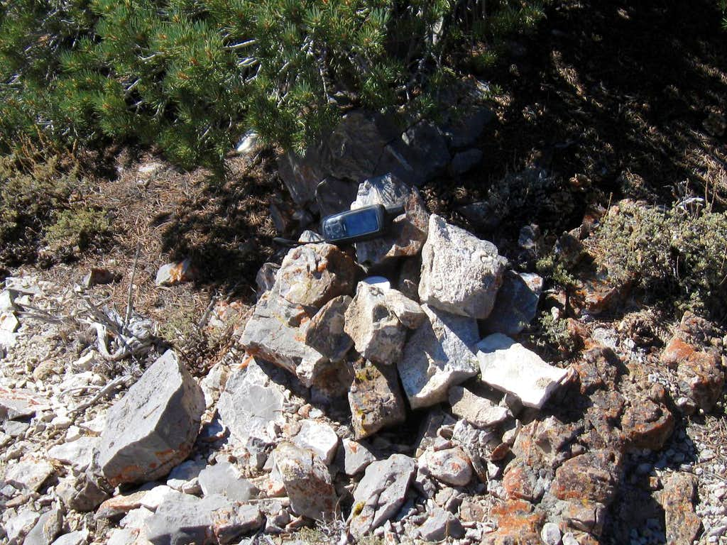 The summit cairn & register