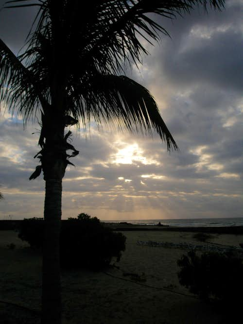 Early morning at Costa Teguise