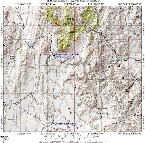 Conger Mtn map 2