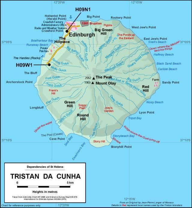 Tristan Da Cunha The Peak Photos Diagrams Topos Summitpost: Tristan Da Cunha Map At Slyspyder.com