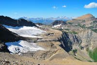 from the east, via Swiftcurrent Glacier Basin