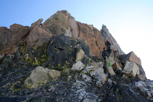 Start of Turret Peak\'s West Ridge
