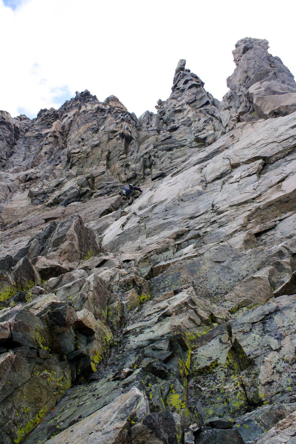 Steep Scrambling on Turret Peak