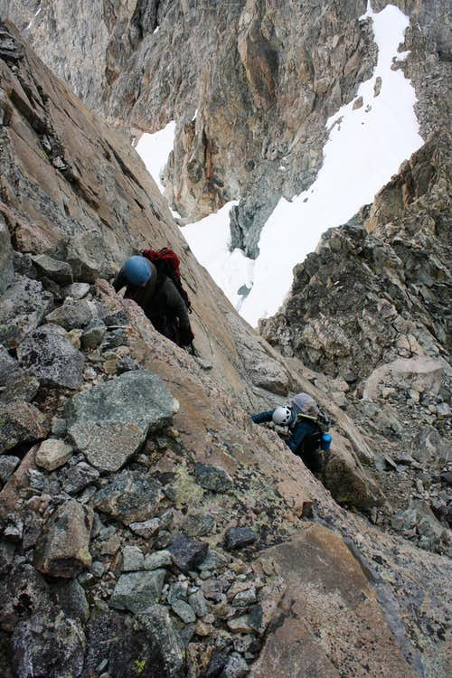 Scrambling on Turret Peak
