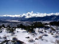 A Photo From the Summit of Snow Covered Mayan Peak