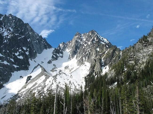 Colchuck Peak and area on the...