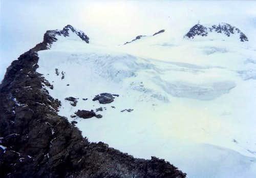 Descent normal Route on Valsorey Glacier, near Mont  Cordine