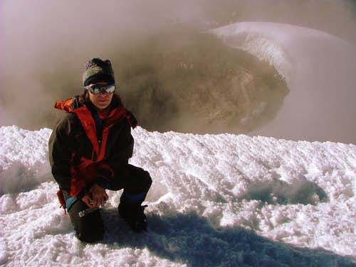 Me and Cotopaxi crater