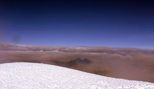 Illinizas from the summit (Cotopaxi)
