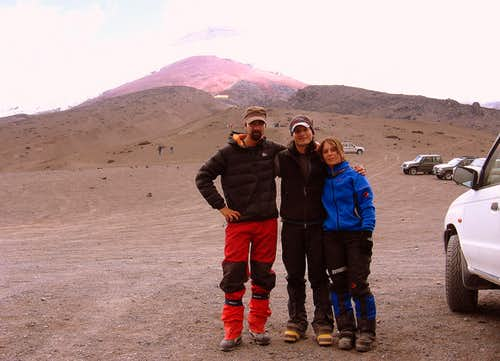 After the climb in the parking lot (Cotopaxi)