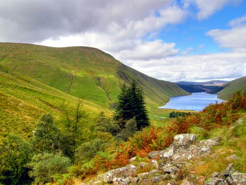 Garalet Hill and Talla Reservoir