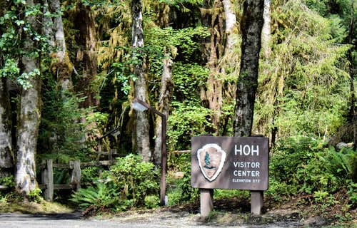 Hoh Visitors Center sign