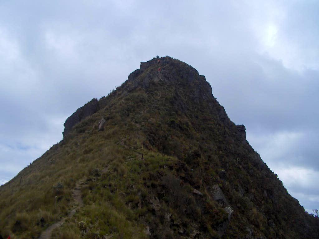 On the way to the summit of Fuya Fuya