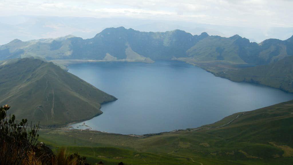 A view of the Lagunas de Mojanda since the Fuya Fuya's summit
