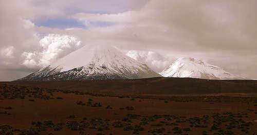 Pomerape and Parinacota.