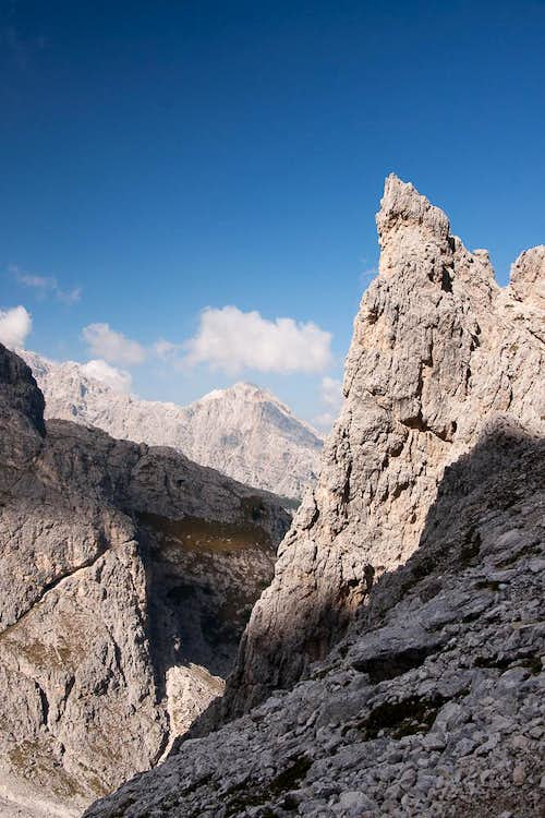 Looking towards Cristallo di Misurina
