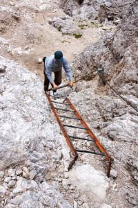 The ladders to Forcella di Diavolo