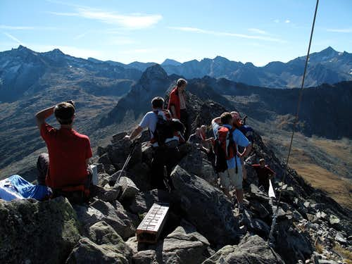 On the top of the Graukogel (2492 metres)