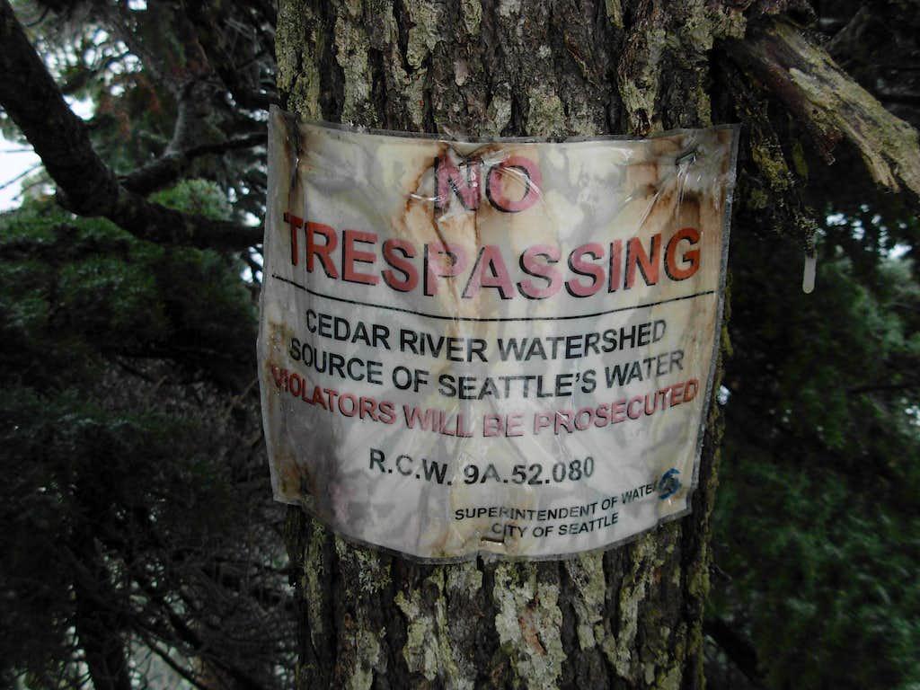 Watershed Sign On Abiel Peak