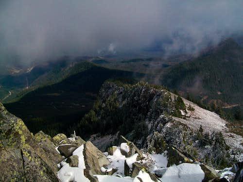 Looking down Silver Peak