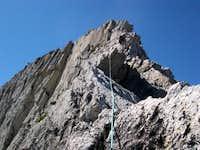 Ascending the north ridge of...