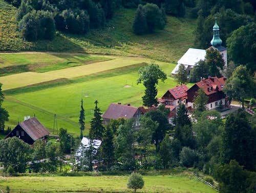 Pasterka village from Szczeliniec Wielki - Góry Stołowe