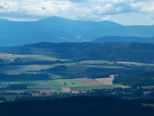 Karkonosze from Szczeliniec Wielki - Góry Stołowe