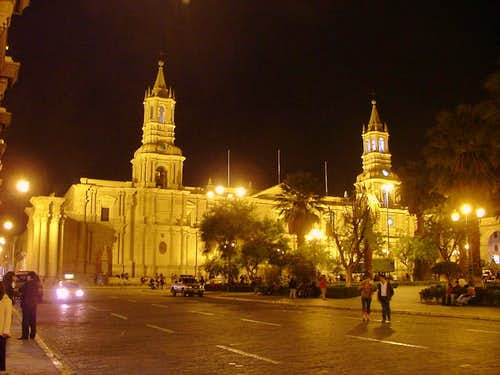 Arequipa at night.