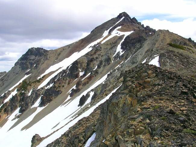 Mount Aix from the west ridge.