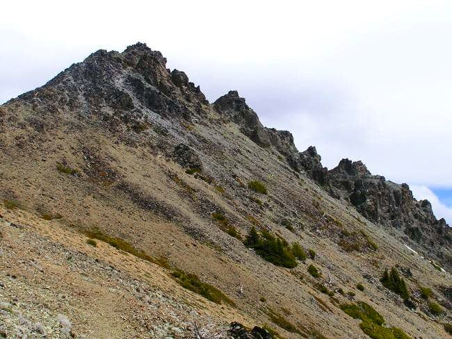 Closer to the summit pinnacle...
