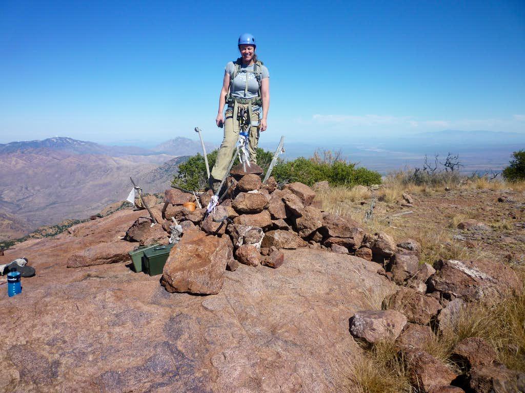 On the summit of Baboquivari