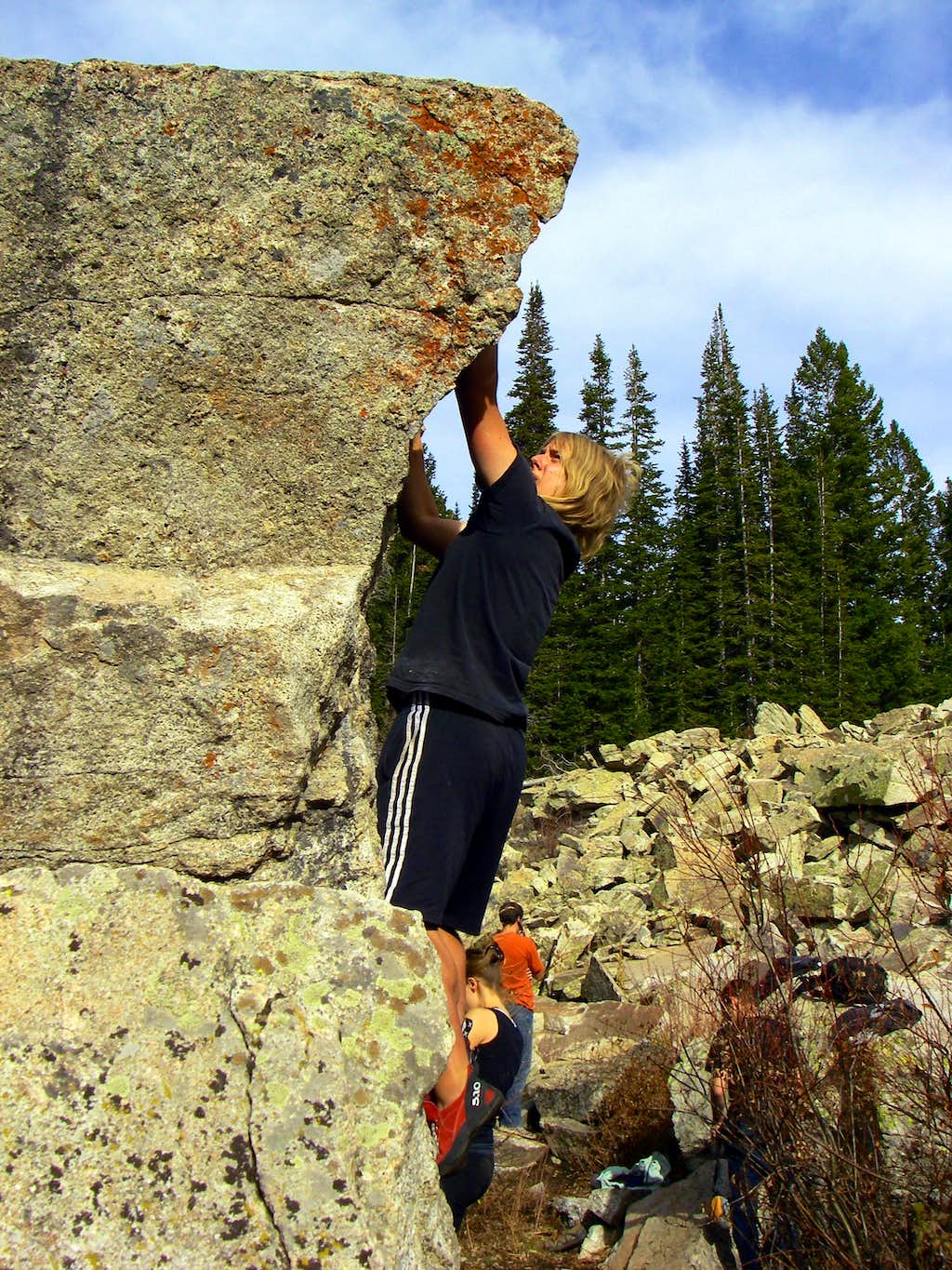 Me on the China Wall Boulder