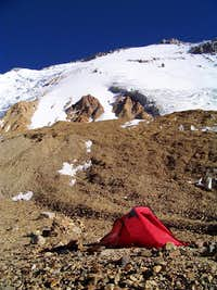 Camp below the South Face