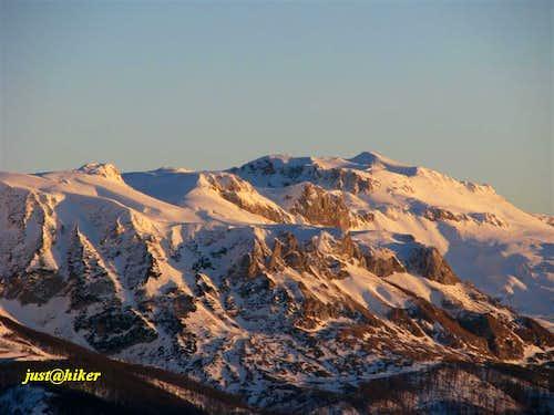 Sunset on Treskavica mountain