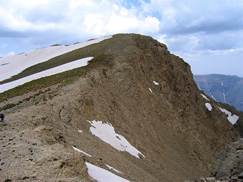 West Face of the East Summit of Parvaneh Peak