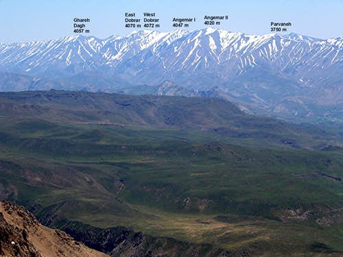 Parvaneh & its nearby Peaks