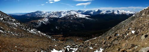 Hoosier Ridge and Tenmile Range Panorama