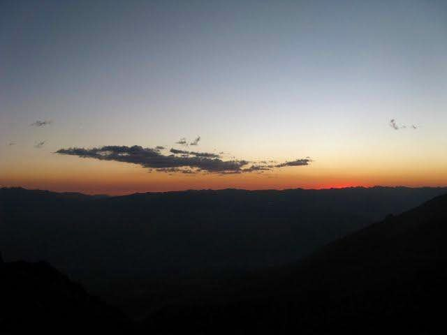 second day sunset, from rima rima