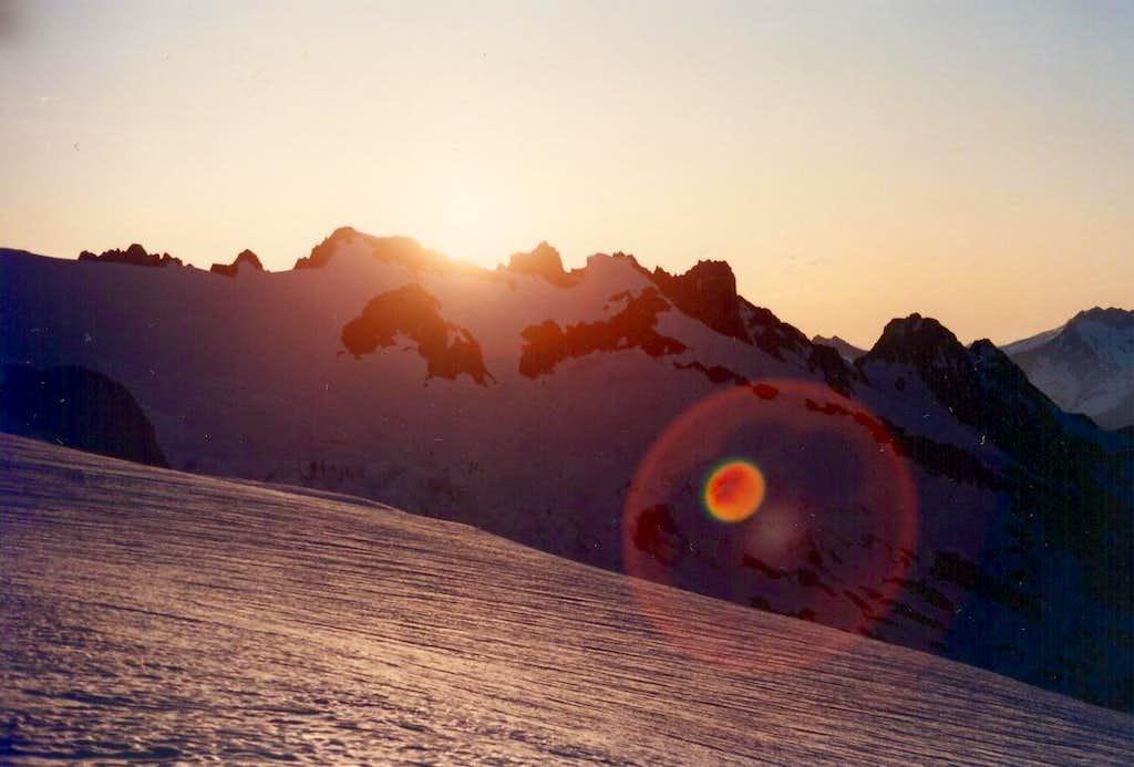 Sunrise on the Sulphide Glacier