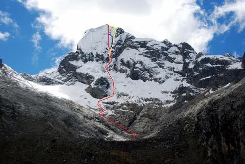 Nevado Churup - Southwest Face Route