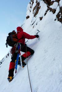 Nevado Churup, the crux pitch